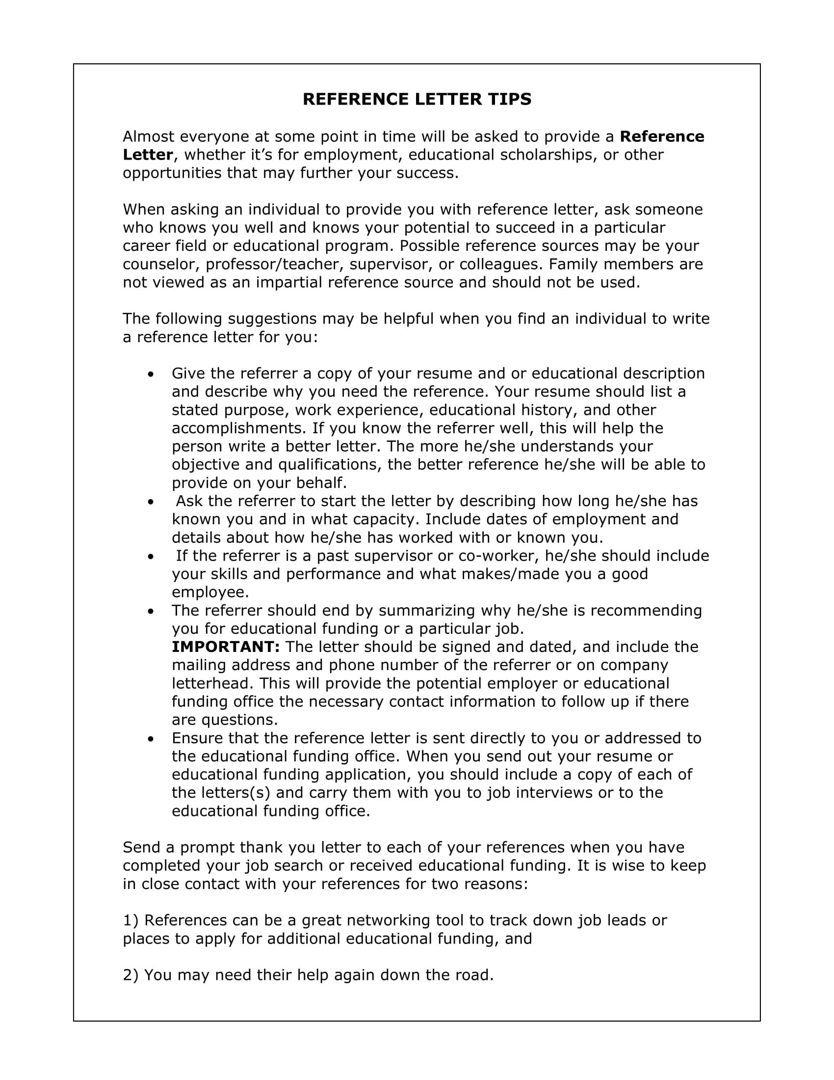 example of reference letter for employee
