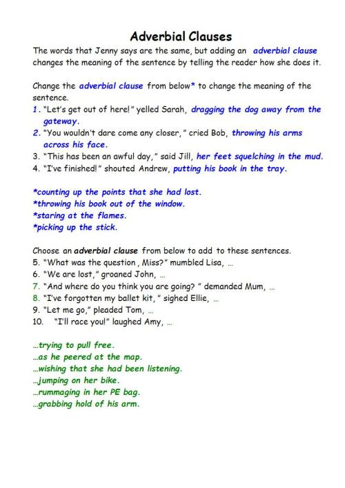small resolution of 9+ Adverb Clause Examples - PDF