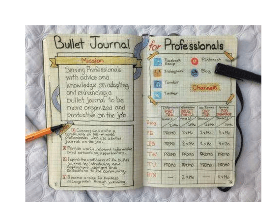 9 Bullet Journal Examples
