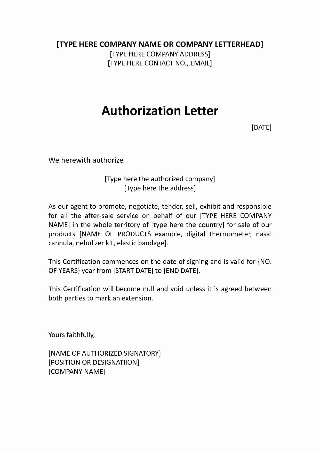 9 Letter of Authorization to Represent Examples  PDF  Examples