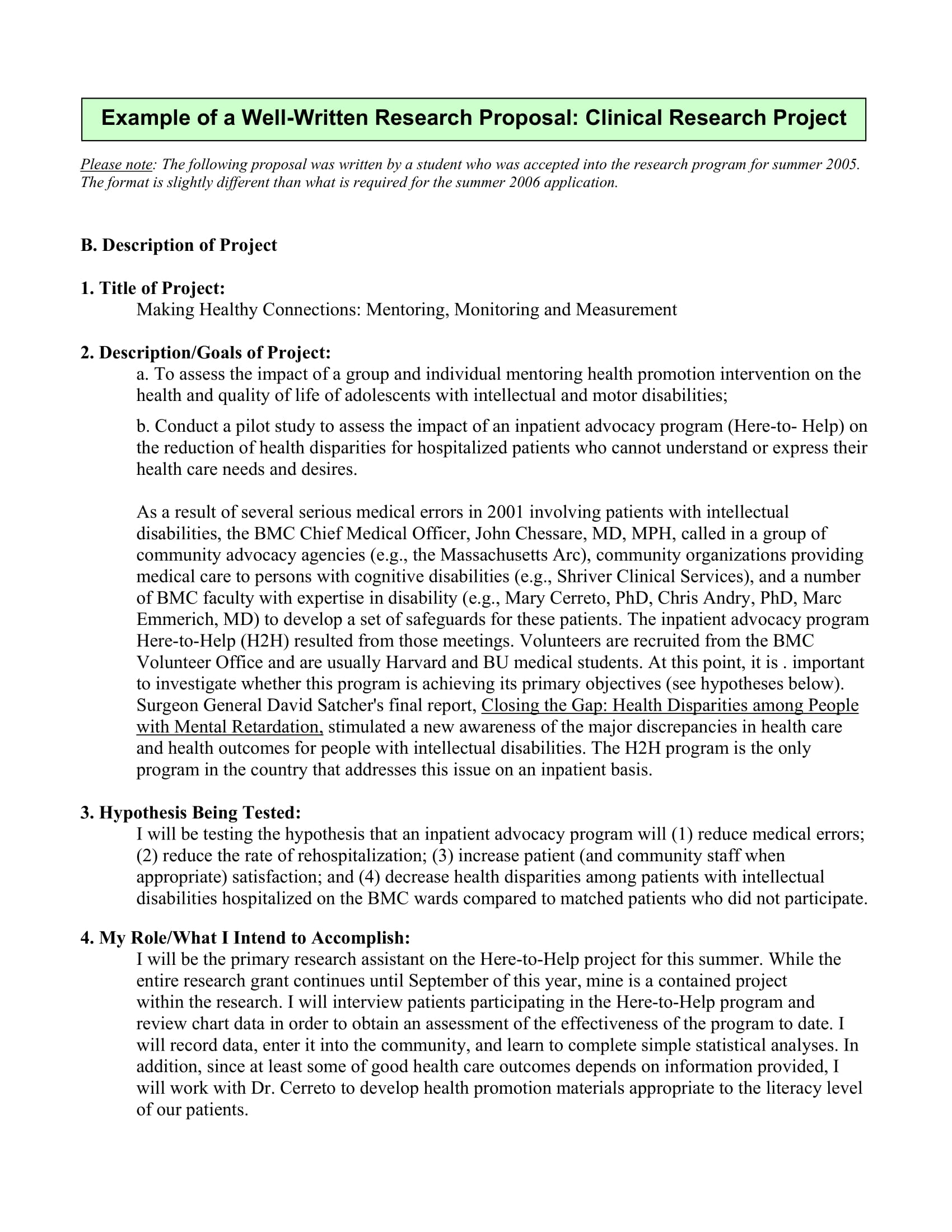 10 Student Project Proposal Examples PDF