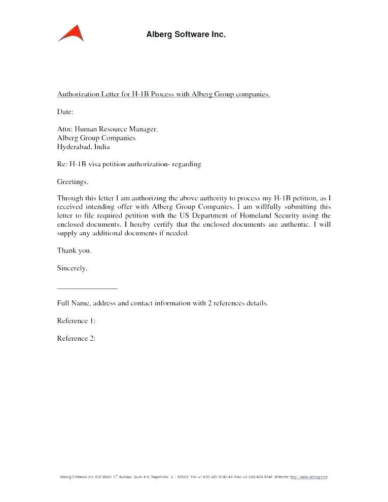 letter authorizing
