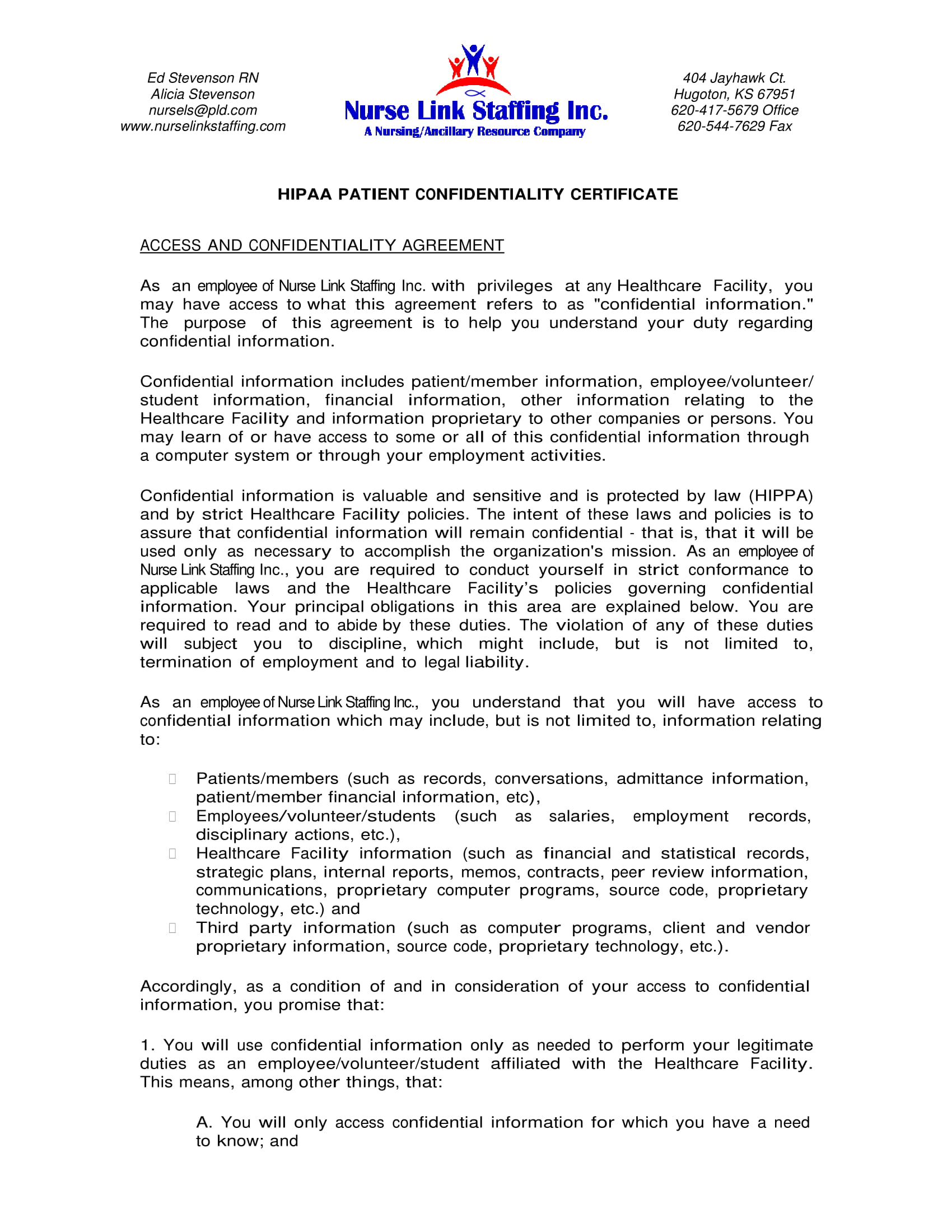 9+ HIPAA Confidentiality Agreement Examples - PDF