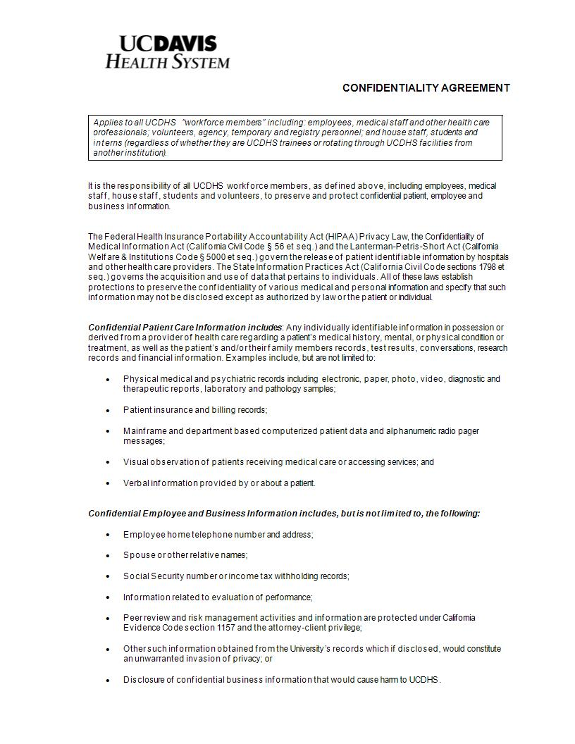 9+ Medical Confidentiality Agreement Examples - PDF, DOC