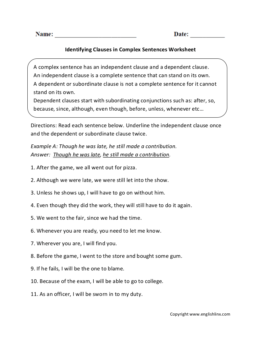 hight resolution of Phrases And Clauses Exercises With Answers Pdf   Exercise