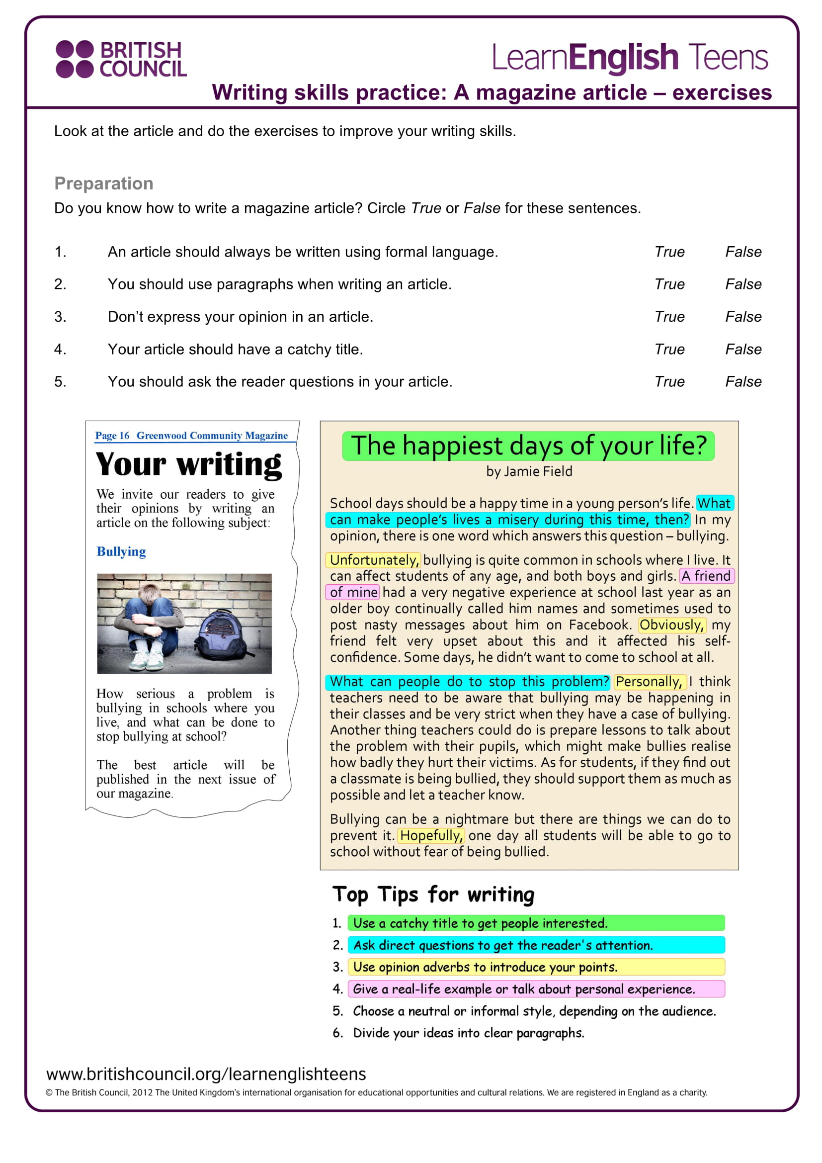 9 Article Writing Examples For Students