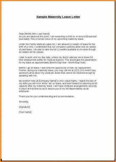 11 Official Medical Leave Letter Examples  PDF  Examples