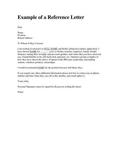 9 Personal Reference Letter Examples  PDF  Examples