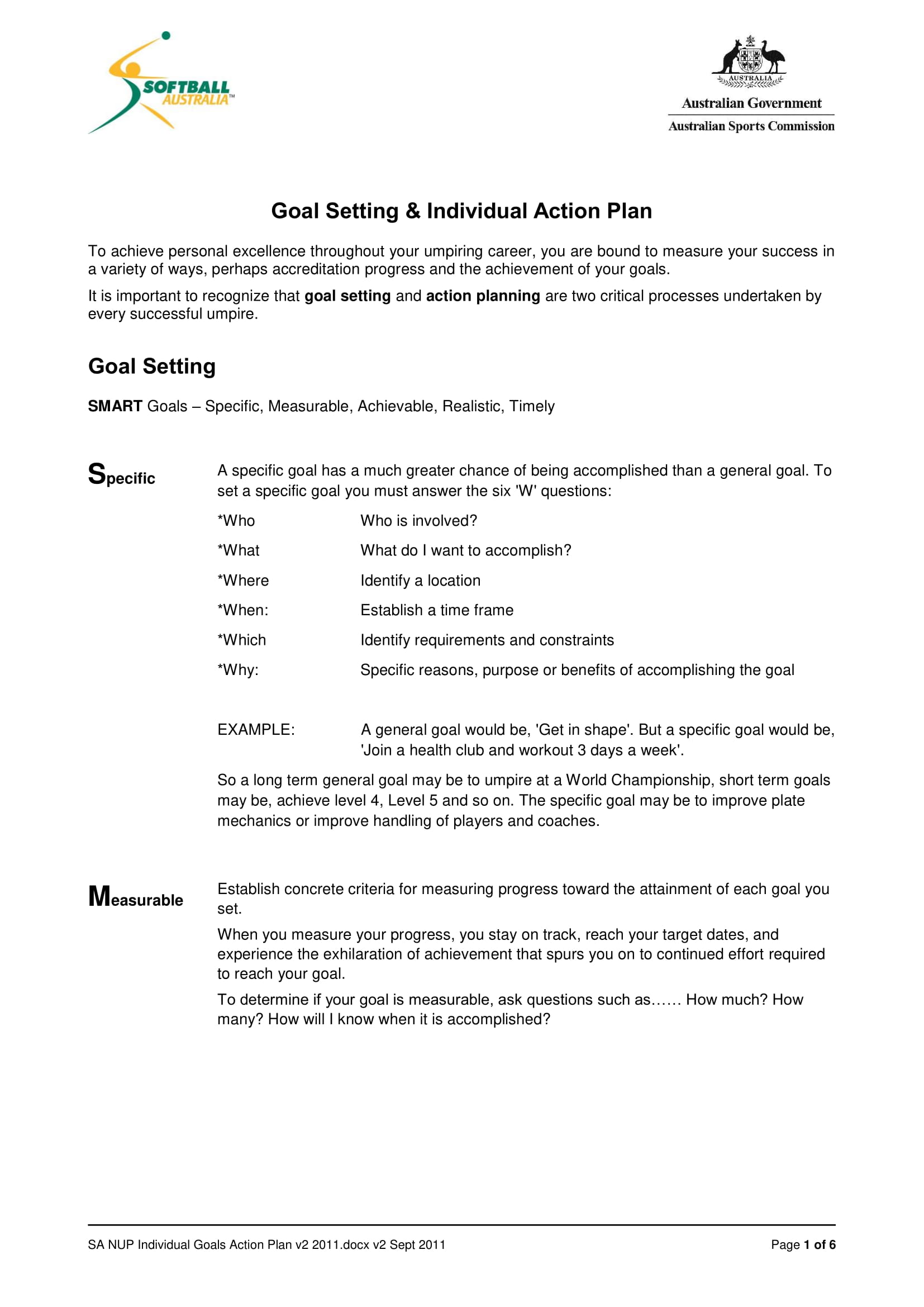 12 Printable Smart Action Plan Examples