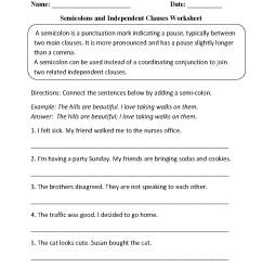 Dependent And Independent Clauses Worksheet 4th Grade   Printable Worksheets  and Activities for Teachers [ 1662 x 1275 Pixel ]