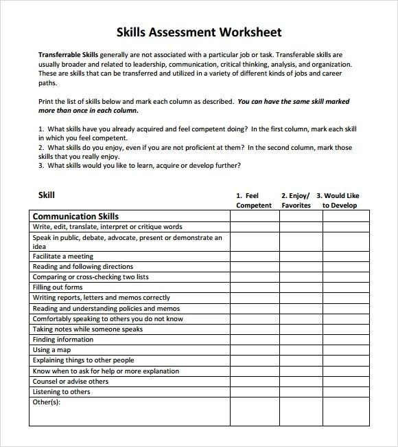10 Skills Assessment Tips And Examples PDF Examples