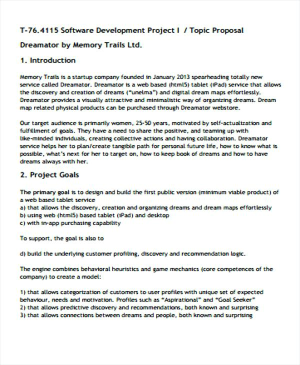 12 Software Project Proposal Examples PDF Word Examples