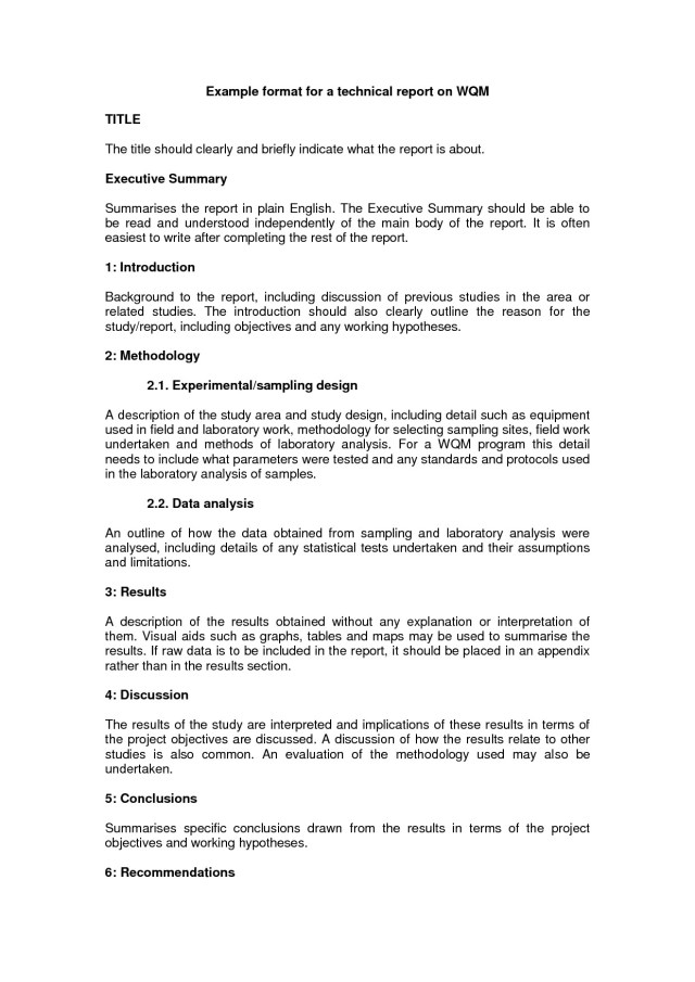 25+ Technical Report Writing Examples - PDF  Examples