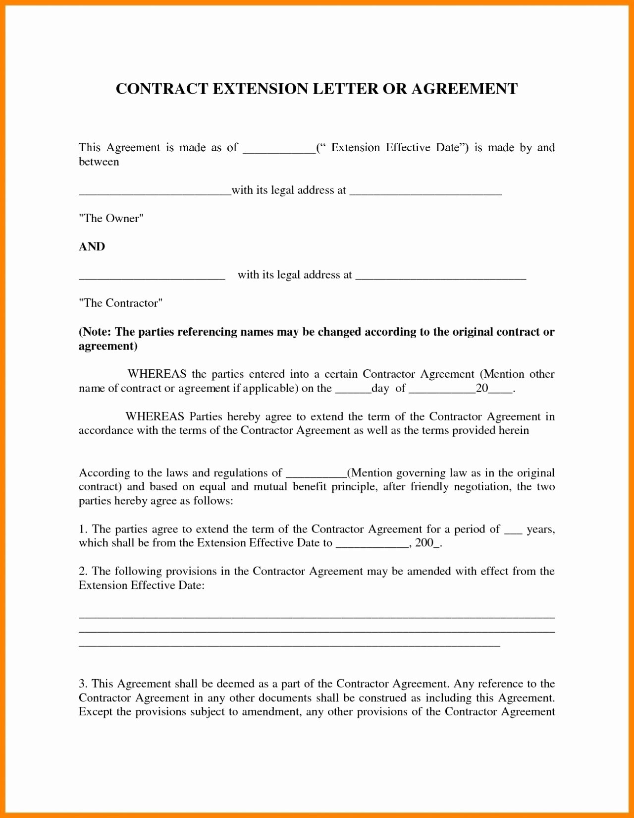 Agreement Letter Between Two People : agreement, letter, between, people, Contract, Agreement, Letter, Examples