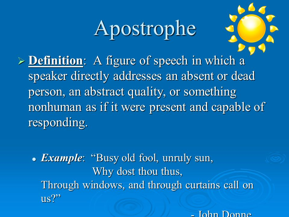 8 Apostrophe Examples In Literature Examples