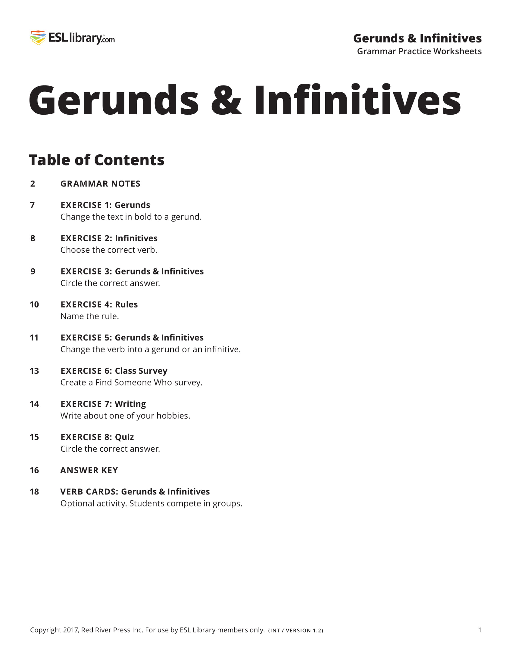 Verbs Followed By Infinitives And Gerunds Exercises Verbs Followed By Gerund Or Infinitive