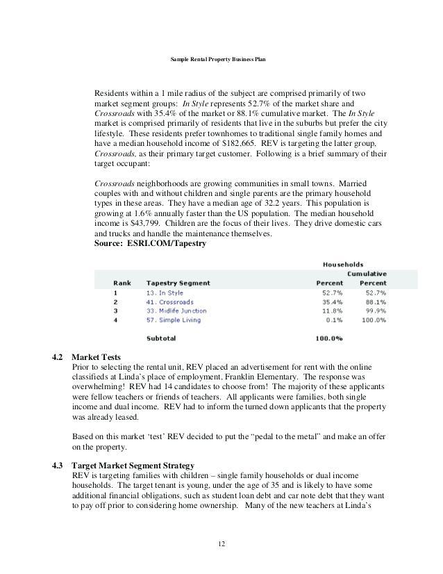 11 Rental Property Business Plan Examples Amp Samples Pdf