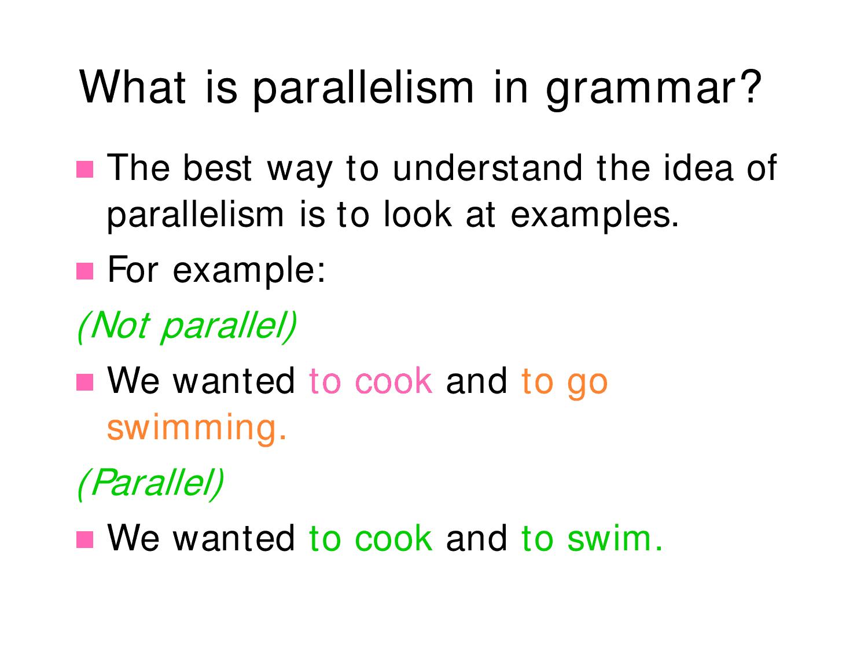 Mockinbirdhillcottage Sentence Parallelism Ppt