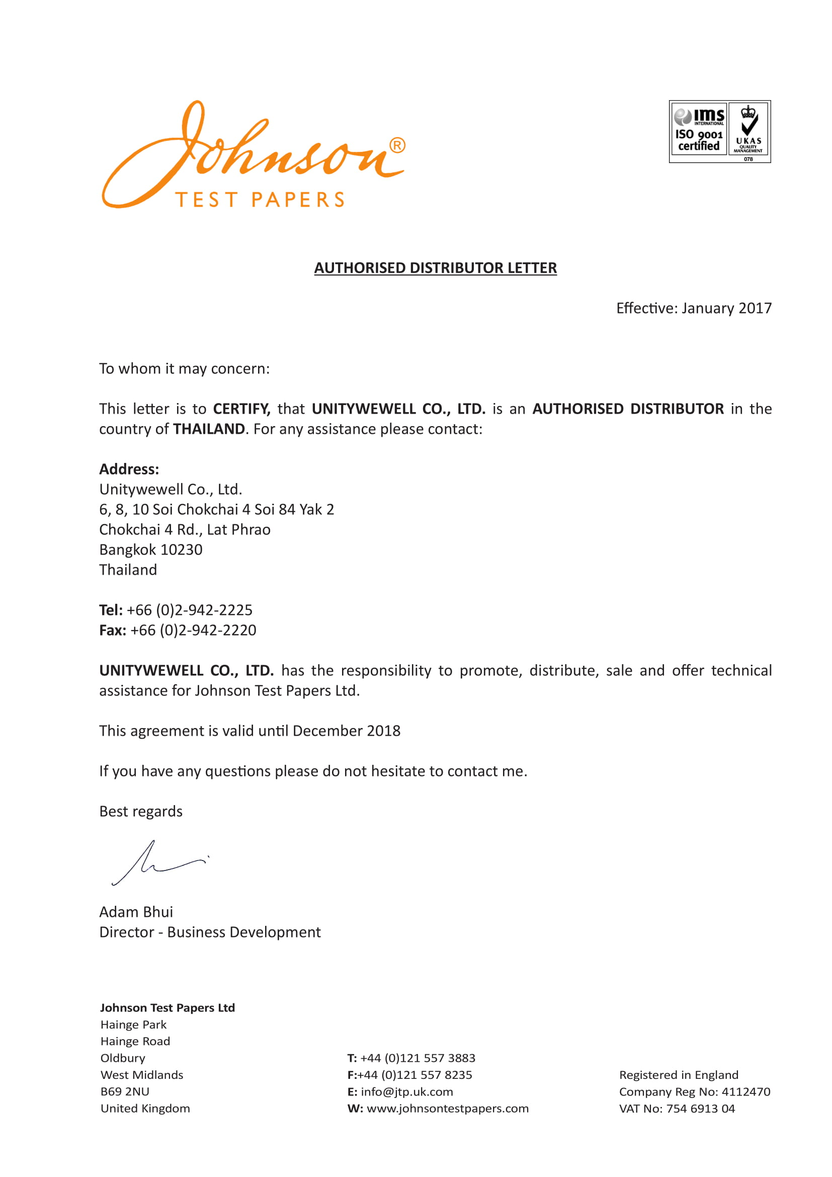 6 Official Distributor Letter Examples  PDF  Examples