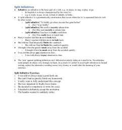 10+ Split Infinitive Examples - PDF   Examples [ 2200 x 1700 Pixel ]