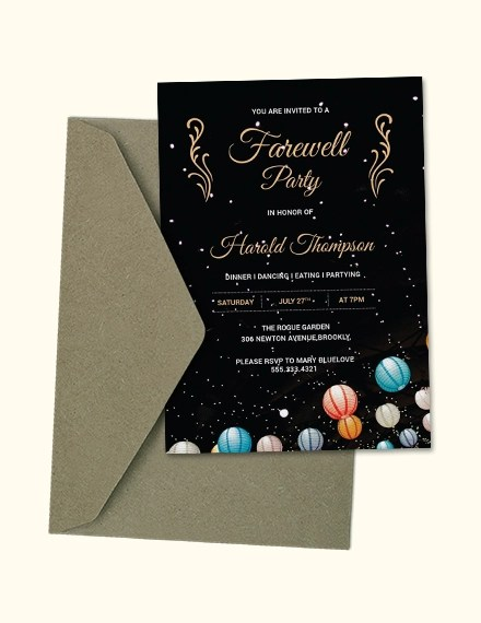Farewell Party Invitation Template Years Headinnovation Co