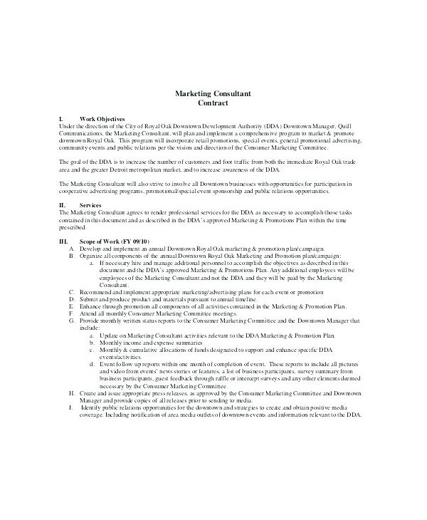 Consulting agreement this consulting agreement (this agreement) is made between gallagher benefit services, inc., a delaware corporation (gbs), and champaign county (the client). 11 Marketing Consultant Contract Examples Pdf Word Pages Examples