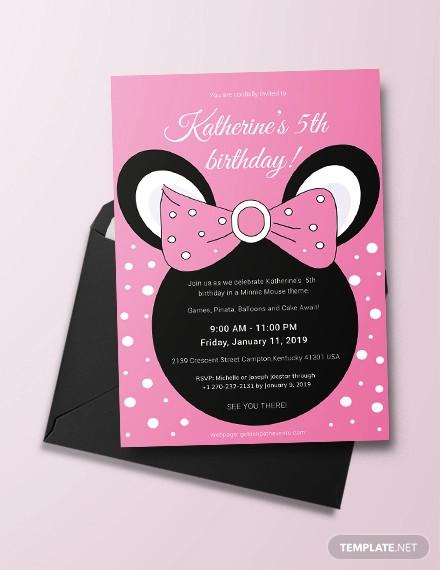 free 14 minnie mouse birthday