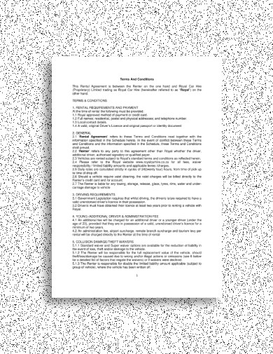 FREE 14+ Best Car Rental Agreement Examples & Templates