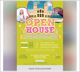 open invitation template flyer examples templates invitations yellow vector simple