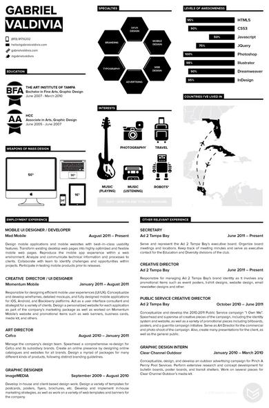 10+ Minimalist Infographic Resume Examples & Templates
