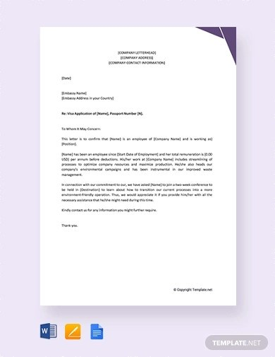 Visa Letter From Employer Sample / No Objection Letter For Visa Application And Sample ... : Recommendation letter samples from a previous ...