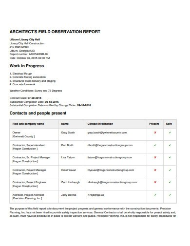 Safety reporting is a constant endeavour for construction and industrial companies, which is why there are so many types of safety observation reports, … 12 Safety Observation Examples In Pdf Examples