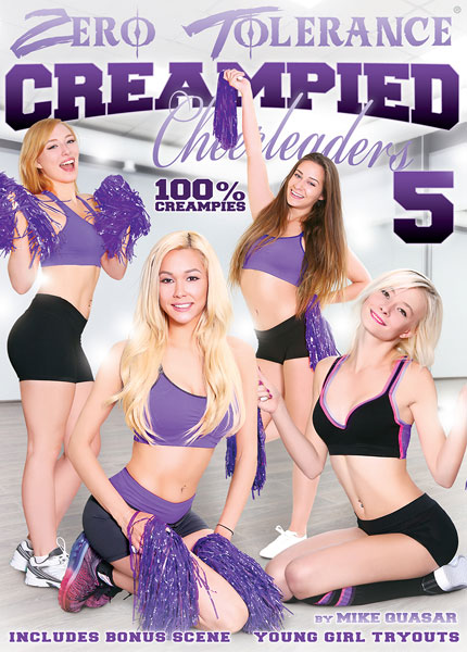 Creampied Cheerleaders 5, Porn DVD, Zero Tolerance, Mike Quasar, Maddy Rose, Trillium, Mila Blaze, Cassidy Klein, Marco Banderas, Mark Wood, Bill Bailey, Derrick Pierce, 18+ Teens, All Sex, Cheerleaders, Cream Pie, Cumshots