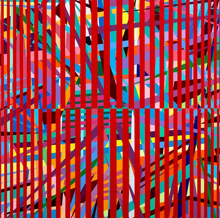 Mouteea Murad Trial No. 68, 2012 Acrylic on canvas 170 x 170 cm