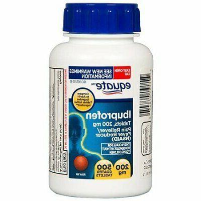 Equate Ibuprofen Pain Reliever 200mg Coated Tablets 500-Count