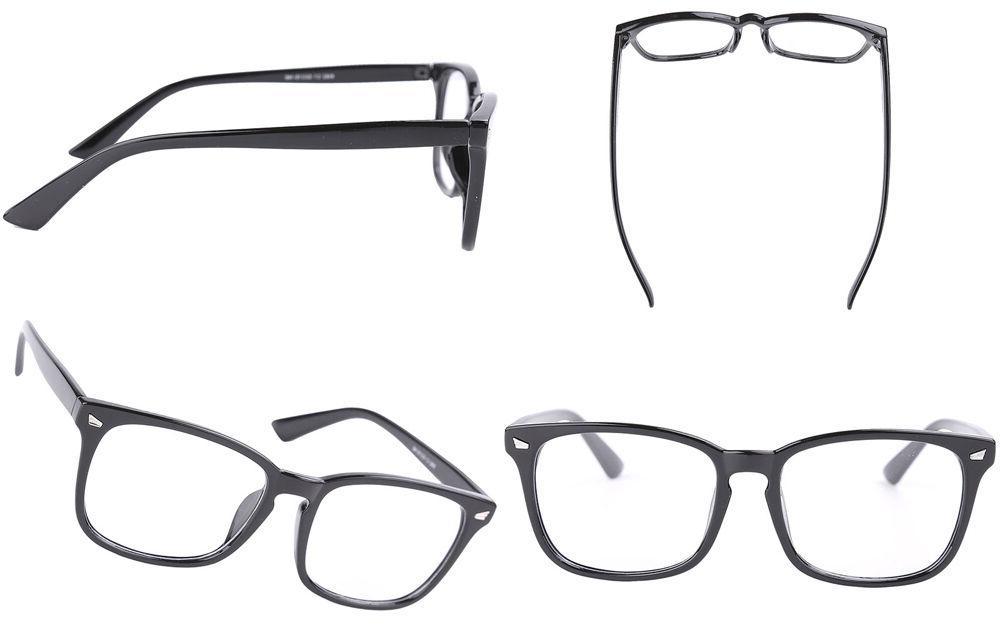 Agstum Womens Men Plain Eyeglasses Clear Lens Full
