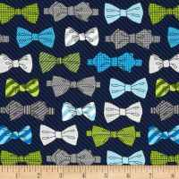 Fox and The Houndstooth Bowties Navy - Discount Designer ...