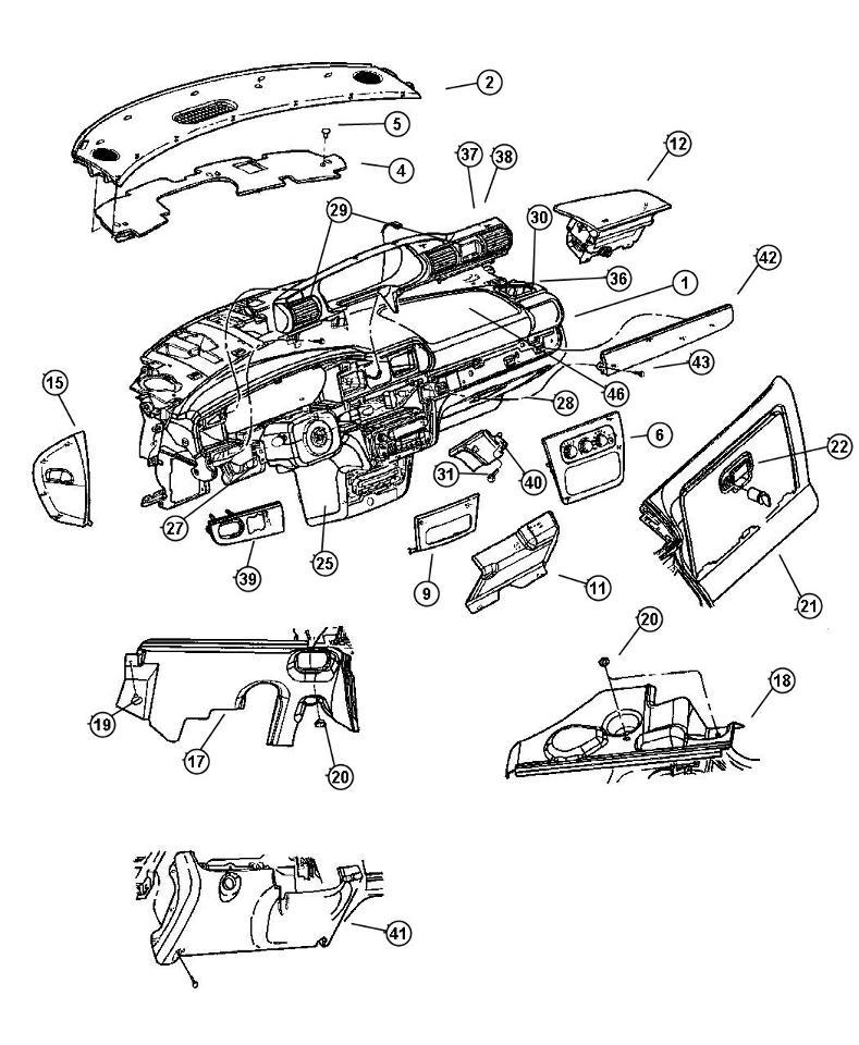 2001-2006 Stratus Sebring Dash Cluster Gauge Bezel Jade