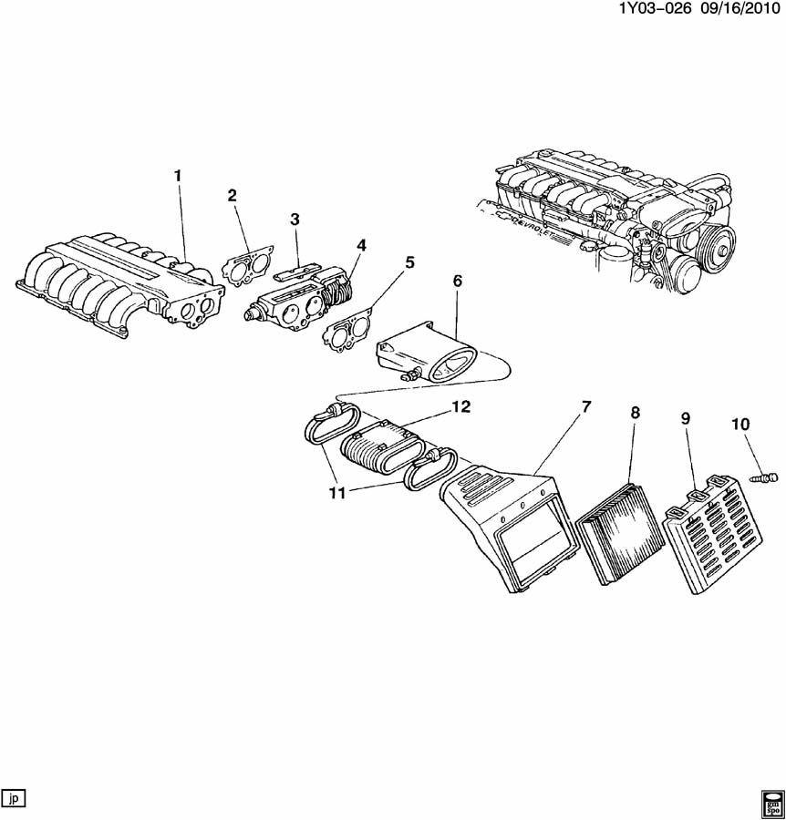 1993-1995 Chevrolet Corvette ZR1 LT5 Air Intake Manifold