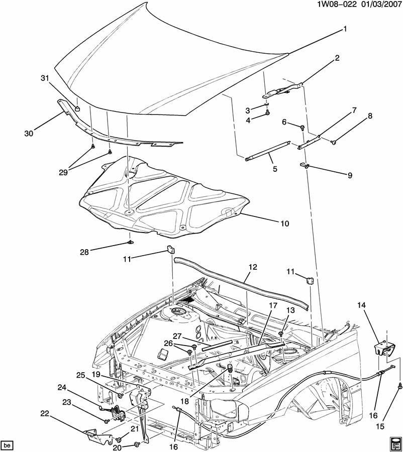1997-2016 GM Hood Rear Weatherstrip Seal New OEM Black