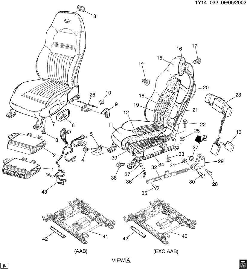 1997-2000 Chevrolet Corvette C5 Seat Lumbar Pump Used