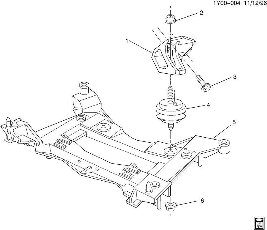 1997-13 Chevy Corvette C5 C6 Engine Mount Used 10284134