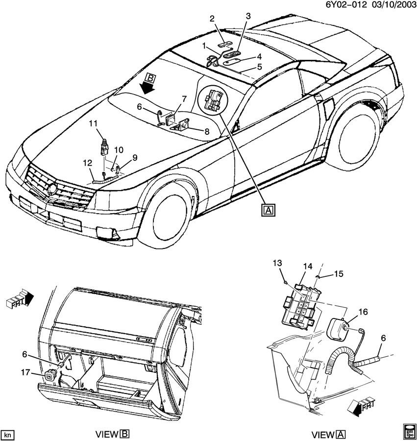 Oem Wiring Harness 2004 Cadillac Srx, Oem, Free Engine
