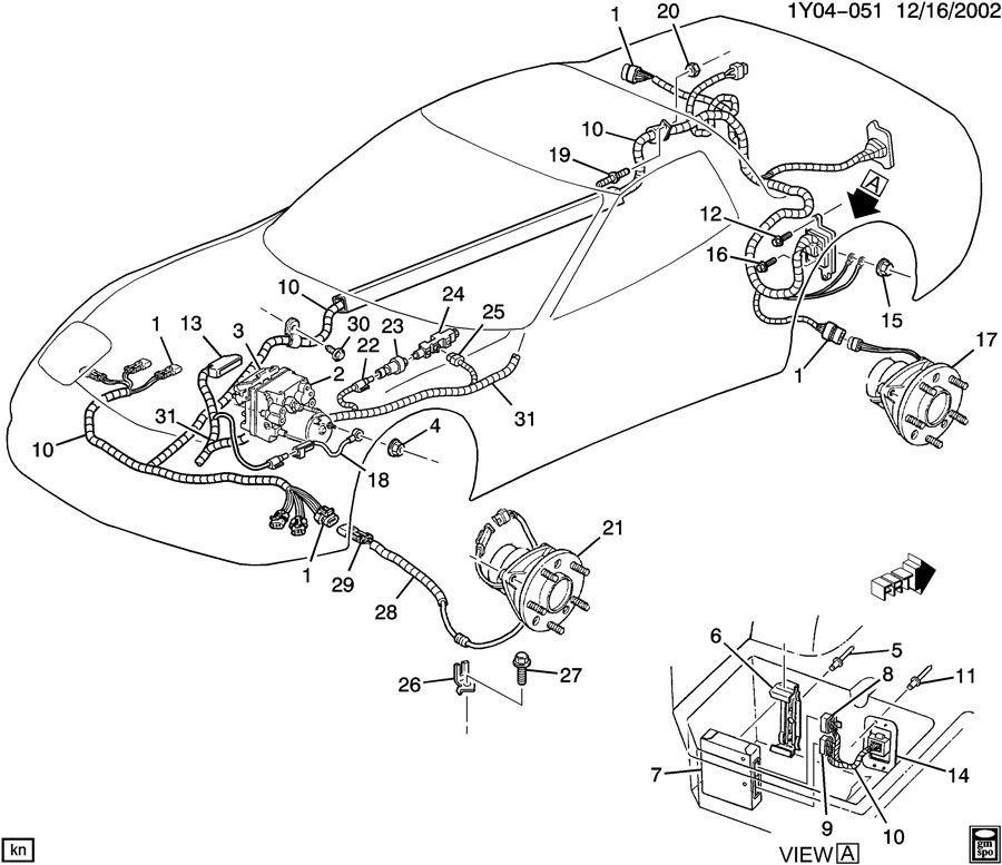 1997-04 Corvette C5 04-09 Cadillac XLR Electronic Brake