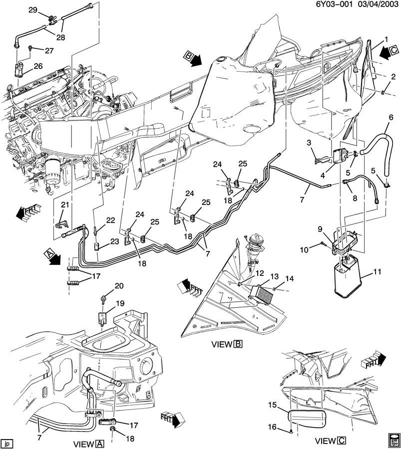2004-2005 Cadillac XLR Fuel Pump Controller Module Used