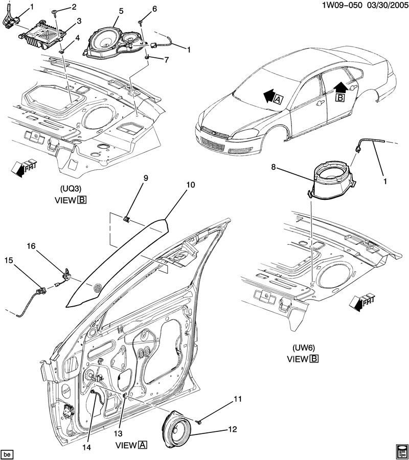 2006-2014 Chevy Impala Front Door Speaker ACDelco Bose 6.5