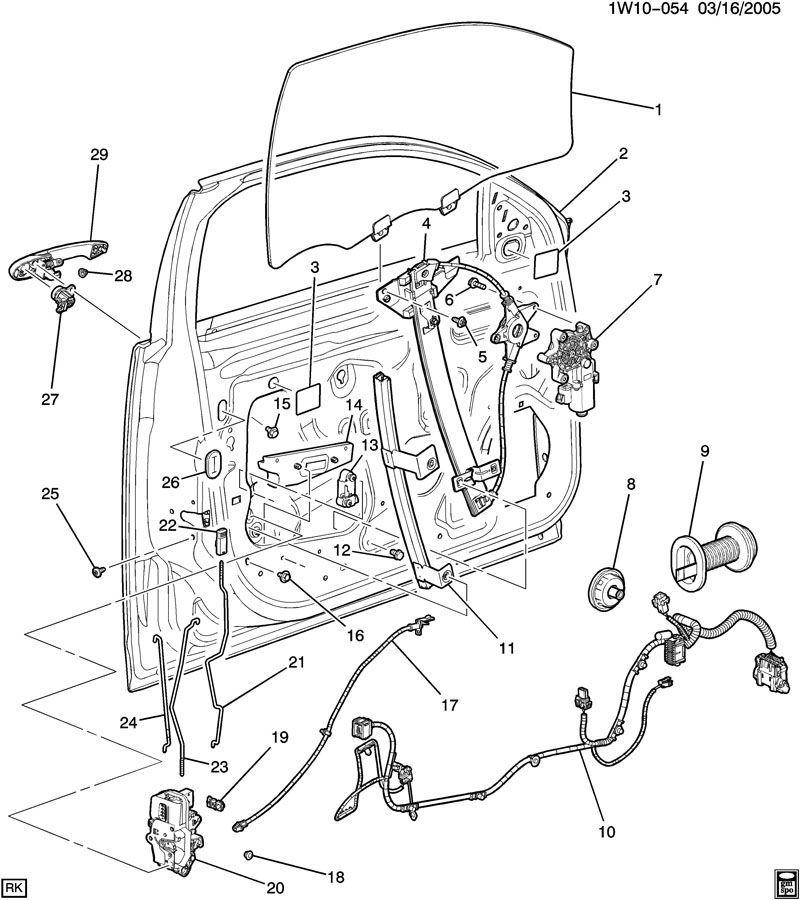 2006-2014 Chevrolet Impala LH Front Door Lock Rod New OEM