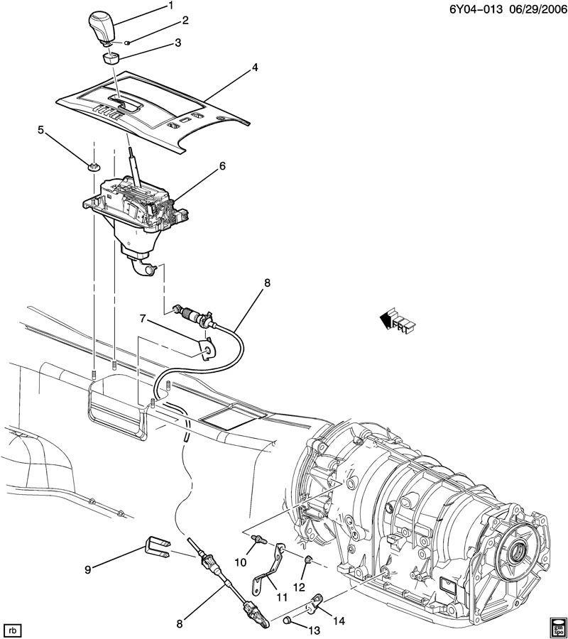 2006-2009 Cadillac XLR Transmission Control Lever 10347386