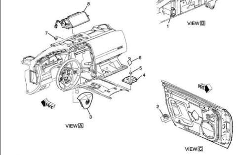 Cadillac XLR Air Bag Door Sensor (Fits LH & RH Side