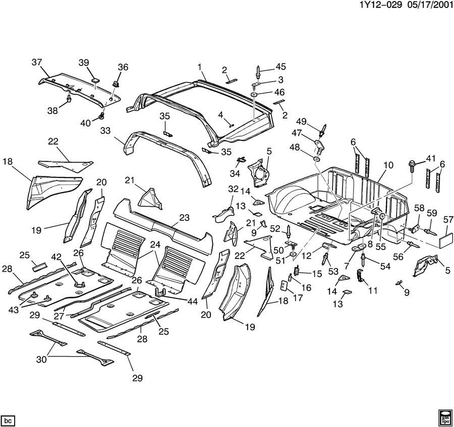 1997-2002 Chevy Corvette C5 Upper B Pillar Trim Panel Halo